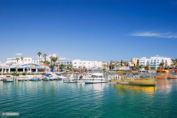 The numerous fishing boats and yachts in port of Ayia Napa are ready for the trip, Cyprus