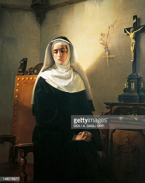 The Nun of Monza by Giuseppe Molteni oil on canvas 149x117 cm Pavia Musei Civici Del Castello Visconteo Pinacoteca Malaspina