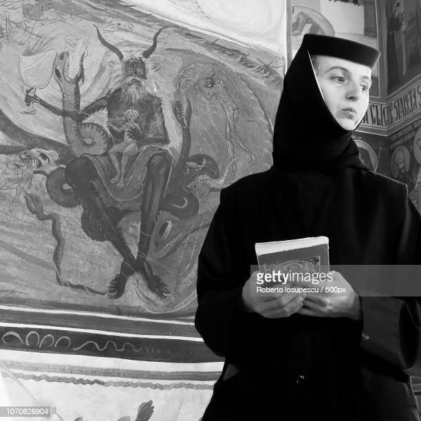 The nun...