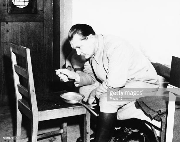 The Nuremberg Trial Goering in his cell 20th century Germany Second World War war National archives Washington