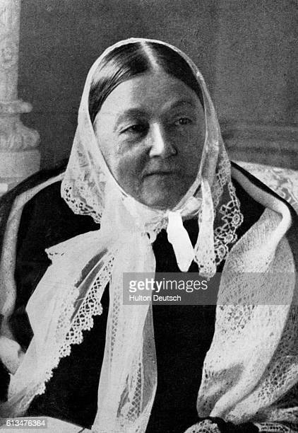 The nurse and hospital reformer Florence Nightingale in old age She is regarded as the founder of modern nursing