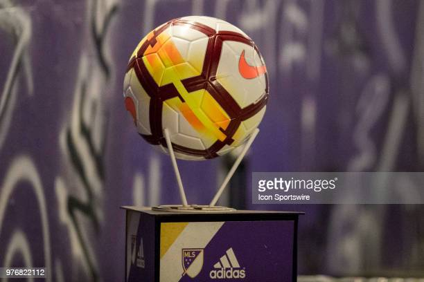 The NWSL game ball before the soccer match between The Orlando Pride and Sky Blue FC on June 16 2018 at Orlando City Stadium in Orlando FL