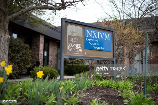 The NXIVM Executive Success Programs sign outside of the office at 455 New Karner Road on April 26 2018 in Albany New York Keith Raniere founder of...