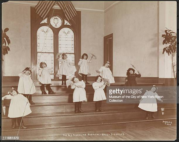 The NY Foundling Hospital Hall Exercises New York New York late 1890s