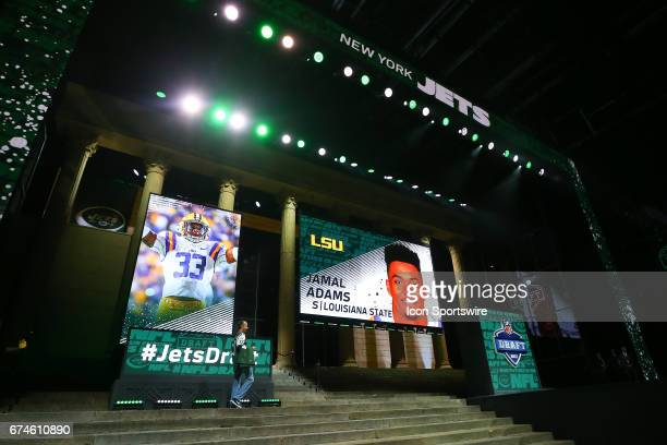 The NY Jets select Jamal Adams from LSU with the 6th pick at the 2017 NFL Draft at the 2017 NFL Draft Theater on April 27 2017 in Philadelphia PA