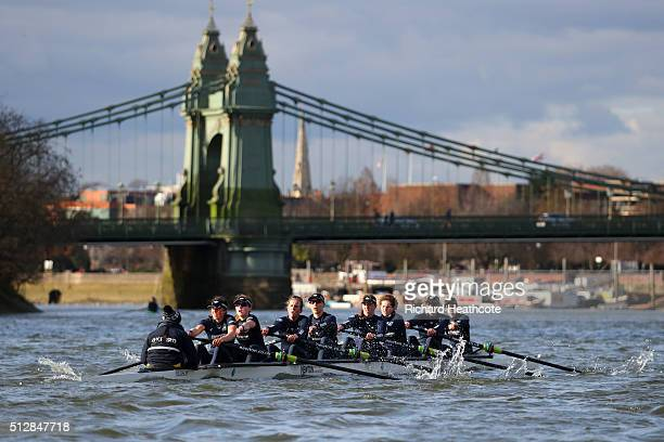 The O action during The 2016 Cancer Research UK Boat Race fixture between Oxford University Women's Boat Club and Molesey on February 28 2016 in...