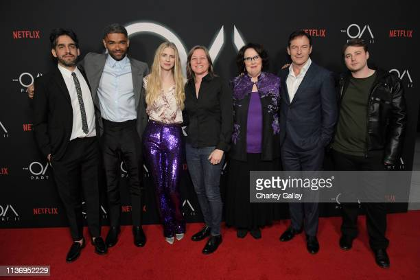 The OA Director and Co-creator Zal Batmanglij, Kingsley Ben-Adir, The OA Co-creator Brit Marling, Netflix VP of Original Content Cindy Holland ,...