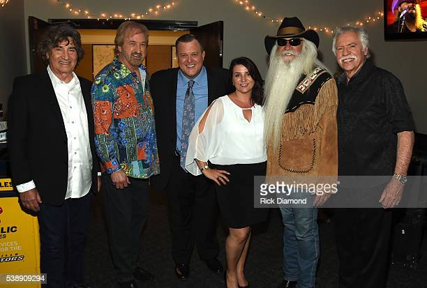 The Oak Ridge Boys' Richard Sterban and Duane Allen Billy and Patty Gardell and the Oak Ridge Boys' William Lee Golden and Joe Bonsall attend the...