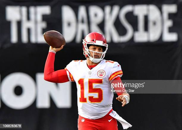 The Oakland Raiders' darkside did little to slow Kansas City Chiefs quarterback Patrick Mahomes from continuing his recordsetting pace on Sunday Dec...
