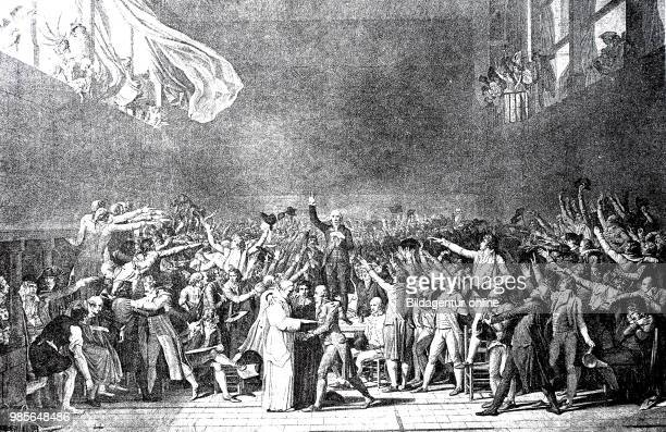The oath in the ballroom of June 20 Bailly reads out the oath that the members of the Third Estate of the French EstatesGeneral in Versailles vowed...