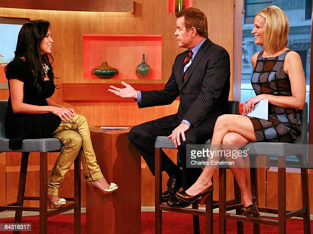 The Obama Girl Amber Ettinger visits FOX's The Morning Show with Mike and Juliet with Mike Jerrick and Juliet Huddy at FOX Studios on January 16 2009...