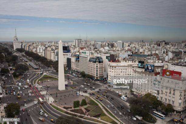 The Obelisco de Buenos Aires national monument stands in the Plaza de la Republica in Buenos Aires Argentina on Wednesday Sept 13 2017 The National...