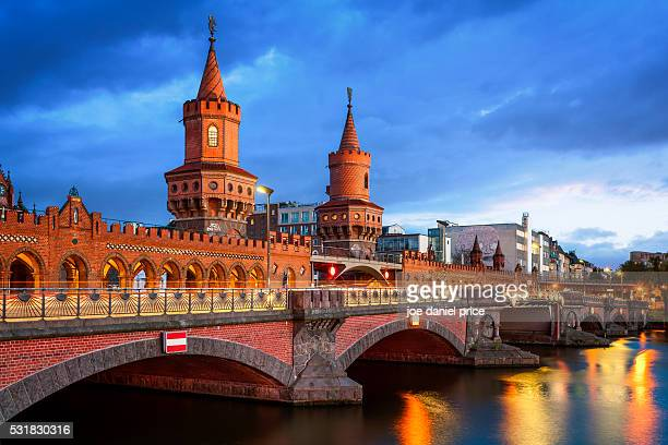 The Oberbaum Bridge, River Spree, Oberbaumbrucke, Berlin, Germany