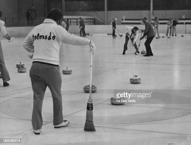 DEC 4 1976 DEC 6 1976 DEC 8 1976 The object is to slide stones to center of target called 'House' At left skip Bunt Hubchik in foreground watches...