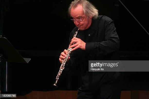 The oboist Maurice Bourge and musicians performing at 92nd Street Y on Wednesday night, December 16, 2009.This image;Maurice Bourge performing...