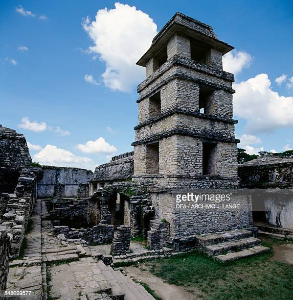 The Observation Tower of the Palace Palenque Chiapas Mexico Mayan civilisation 7th8th century