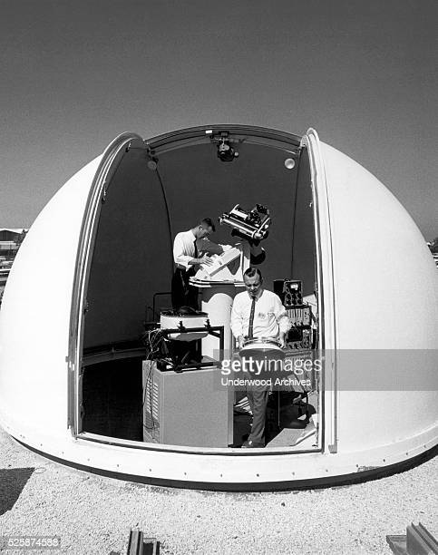 The observatory at Northrop Nortronics Research Park where star and sun tracking experiments are being conducted for stellar guidance systems Palos...