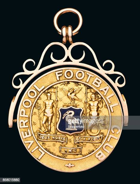 The obverse of the 19001901 Football League Division One Championship medal featuring Liverpool's coat of arms awarded to Scottish leftback Billy...