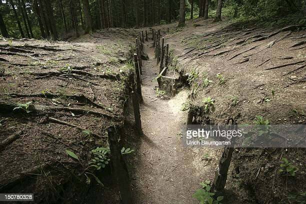 FRANCE DOUAUMONT The obvious scars of the First World War in Verdun Our picture shows trenches near Fort Douaumont
