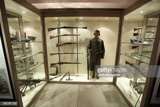 FRANCE FLEURY The obvious scars of the First World War in Verdun Our picture shows exhibits like a soldier with a German uniform German weapons and...