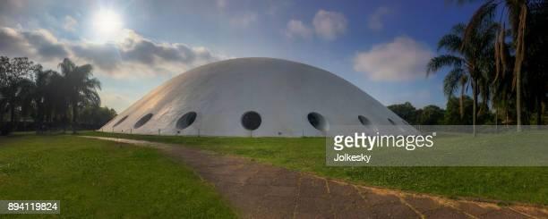 The Oca Museum, designed by Oscar Niemeyer, in Ibirapuera Park, Sao Paulo