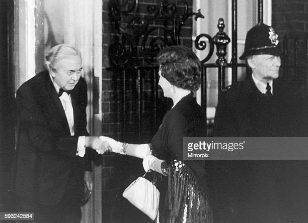 The occasion was a farewell dinner given by Prime Minister Harold Wilson who had just announced his retirement from office. Our Picture Shows: The...