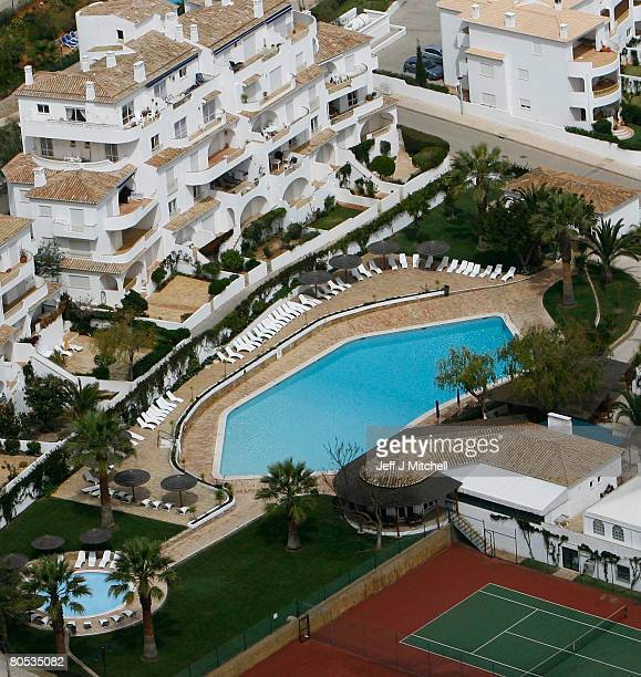 The Ocean Club apartments in Praia da Luz where toddler Madeleine McCann disappeared from on May 3 2007 are pictured on April 5 2008 in Praia da Luz...