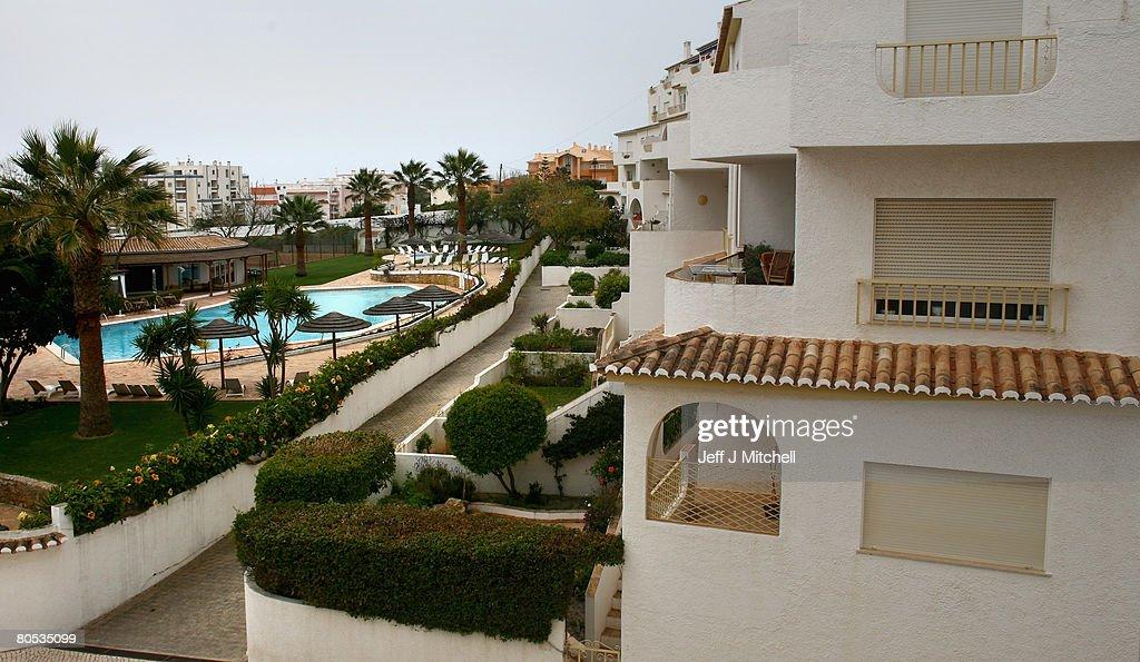 The Ocean Club apartments in Praia da Luz, where toddler