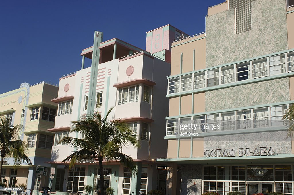 The Ocean Plaza Hotel In South Beach Miami Florida Usa