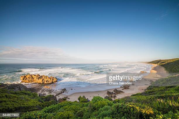 the ocean view form the village of brenton near knysna, south africa - south africa stock pictures, royalty-free photos & images
