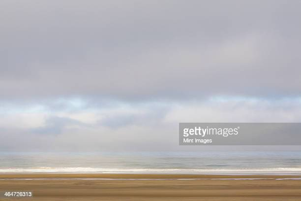 the ocean view from the coast at manzanita,in oregon. - manzanita stock pictures, royalty-free photos & images