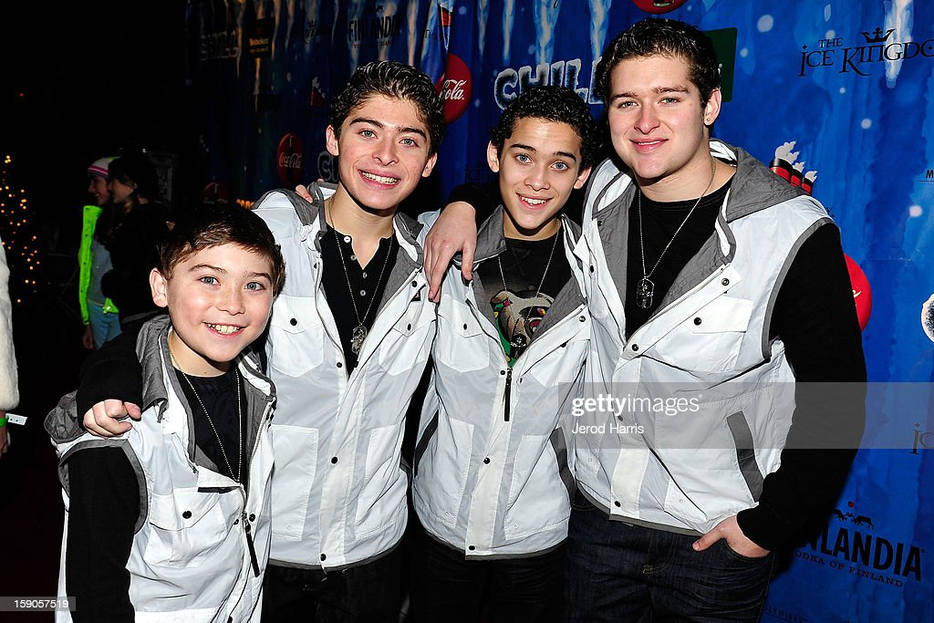 The Ochoa Boys (L-R) Raymond, Ryan, Robert and Rick arrive at the CHILL-OUT closing night concert at The Queen Mary on January 6, 2013 in Long Beach, California.