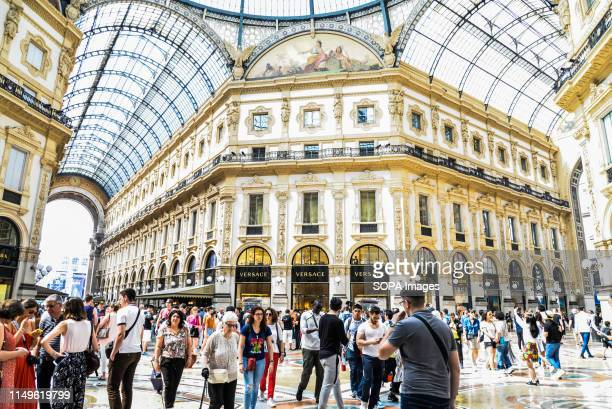 The octagon and the dome of the Galleria Vittorio Emanuele II exterior view