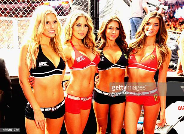 The Octagon girls during the UFC 185 event at American Airlines Center on March 14 2015 in Dallas Texas