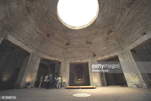 The octagonal room around which life in the villa revolved the room was richly decorated