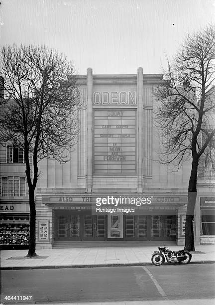 The Odeon Haverstock Hill Hampstead London c1934 Entrance front of the Odeon Of the art deco style in a strong geomtrical design It was designed by...