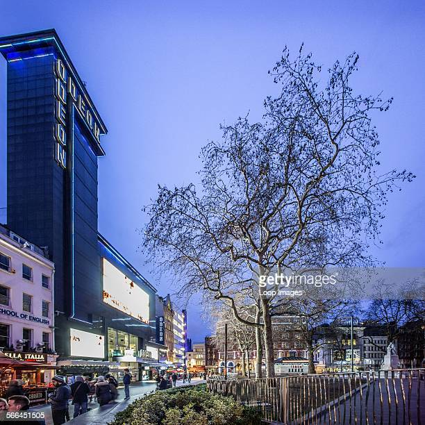 The Odeon Leicester Square at dusk