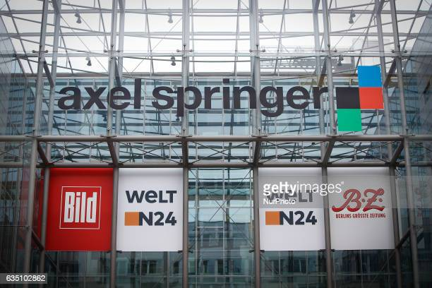 The office building of media company Axel Springer is seen in Berlin on 13 February 2017