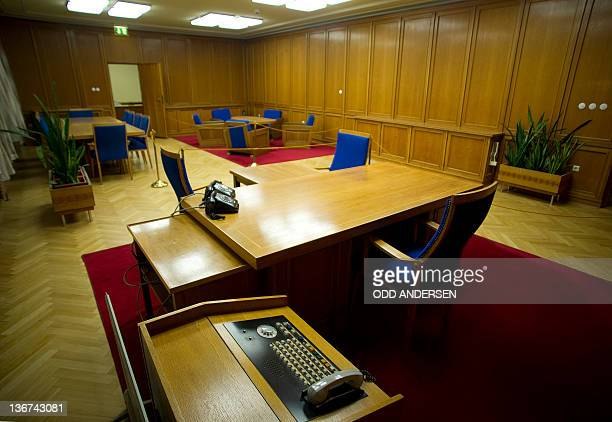 The office of former Stasi chief Erich Mielke is photographed at the defunct East German secret police headquarters turned museum in Berlin on...