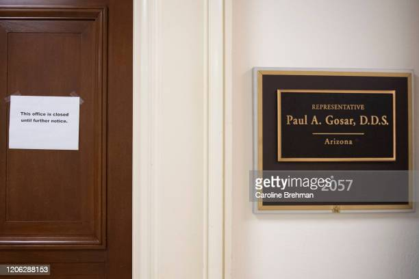 The office of Rep Paul Gosar RAriz is closed after the congressman quarantined himself after coming into contact with an individual who tested...