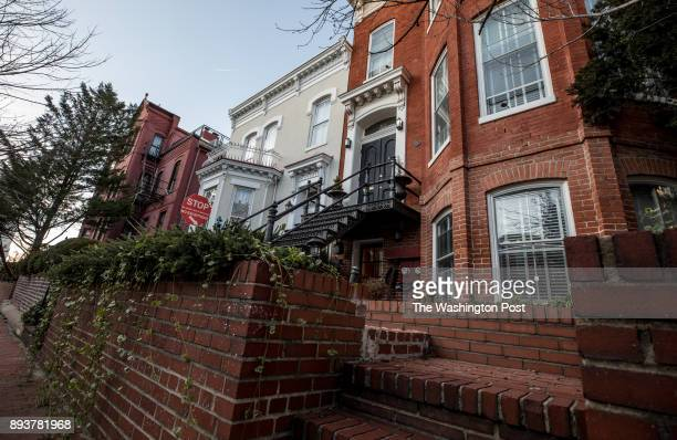 The office of Steven Bannon and Breitbart in Washington DC December 12 2017 Bannon has petitioned to put a fence in front building and the neighbors...