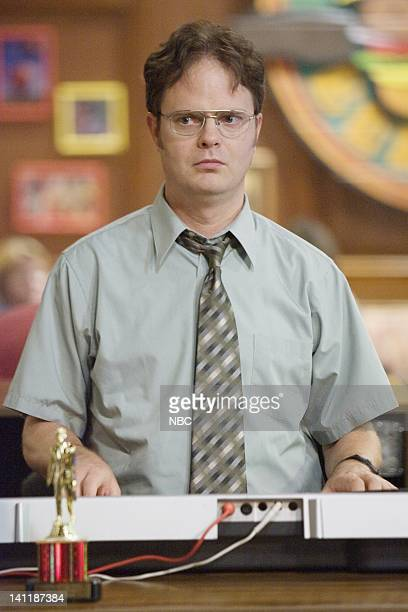 The Office The Dundies Episode 1 Aired Pictured Rainn Wilson as Dwight Schrute Photo by Paul Drinkwater/NBCU Photo Bank