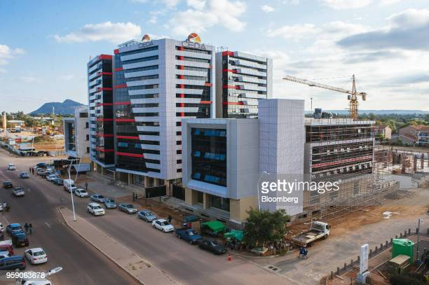 The offices for the Citizen Entrepreneurial Development Agency stand in the central business district of Gaborone Botswana on Monday May 14 2018...