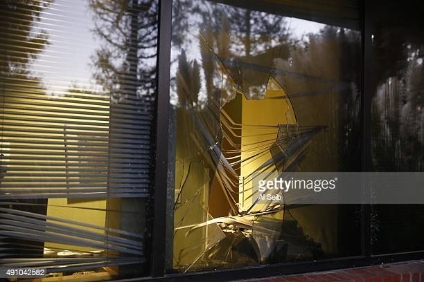 The offices of a Planned Parenthood is sesn on October 2, 2015 in Thousand Oaks, California. Arson and sheriff's investigators are examining a fire...