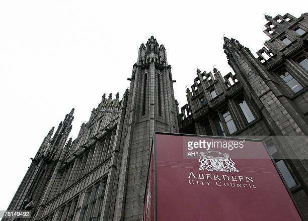 The offices of Aberdeen City Council are pictured in Aberdeen in Scotland 27 November 2007 Plans by US tycoon Donald Trump for a controversial luxury...