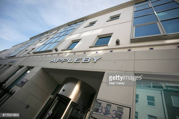 The offices of Bermudabased law firm Appleby are pictured on November 8 2017 in Douglas Isle of Man The Isle of Man is a lowtax British Crown...