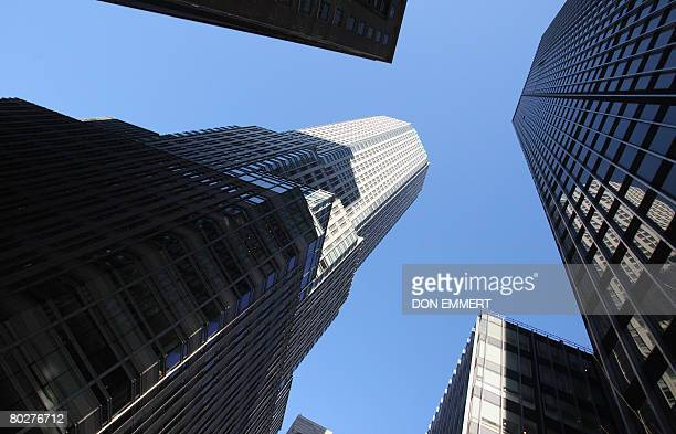 The offices of global investment bank securities trading and brokerage firm Bear Stearns Co on Madison Ave on March 17 2008 in New York JP Morgan...