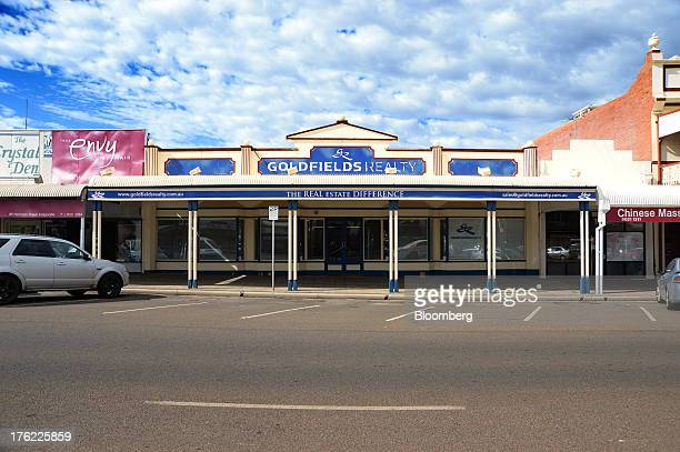 The offices of Goldfields Realty stands in the mining town of Kalgoorlie Australia on Thursday Aug 8 2013 Western Australia the nation's largest...