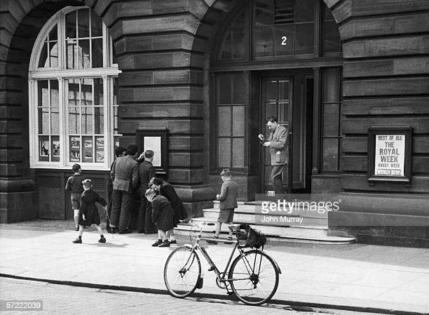 The offices of The Courier in Dundee on the east coast of Scotland 25th June 1955 Original Publication Picture Post 7819 Dundee The Uncompromising...