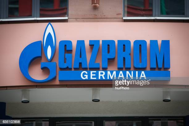 The offices of the German division of the Russian gas company Gazprom are seen in Berlin on 13 February 2017